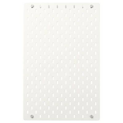 SKÅDIS Perforovaný panel, biela, 36x56 cm