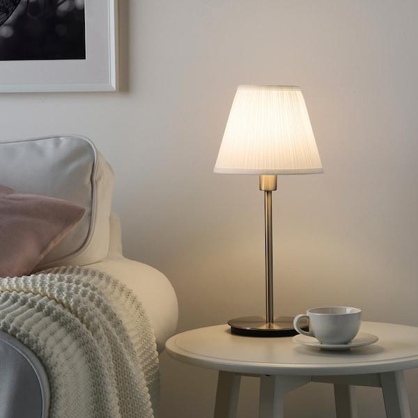 SKAFTET noha stolovej lampy poniklované 8.6 W 30 cm 15 cm 200 cm