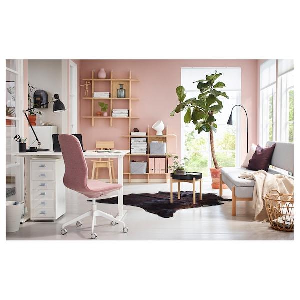 SKARSTA Stôl nastaviteľná výška, biela, 120x70 cm