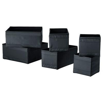 SKUBB škatuľa, sada 6 ks čierna