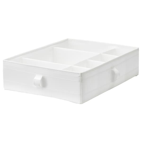 SKUBB škatuľa/priehradky biela 44 cm 34 cm 11 cm