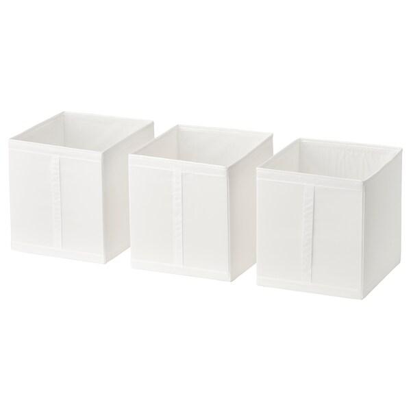 SKUBB škatuľa biela 31 cm 34 cm 33 cm 3 ks