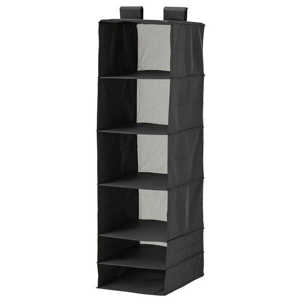 SKUBB úložný priestor so 6 priehradkami čierna 35 cm 45 cm 125 cm