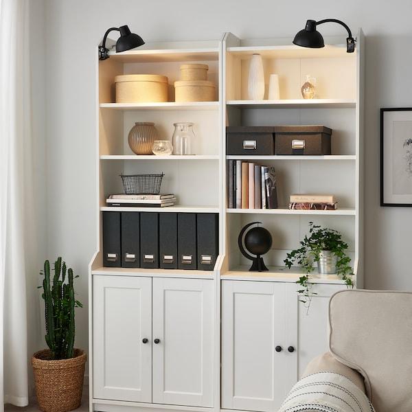 SKURUP Bodová lampa so štipcom, čierna
