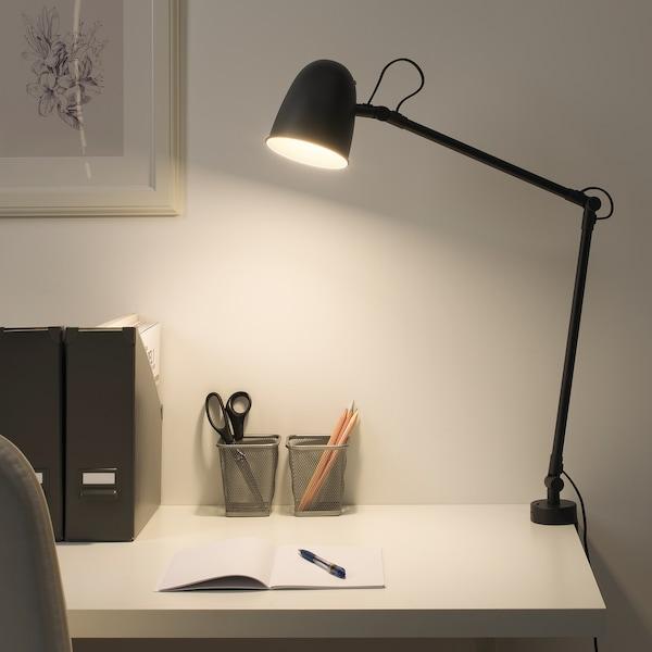 SKURUP pracovná/nástenná lampa čierna 8.6 W 94 cm 12 cm 2.0 m