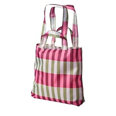 SKYNKE nákupná taška zelená/rużová 45 cm 36 cm