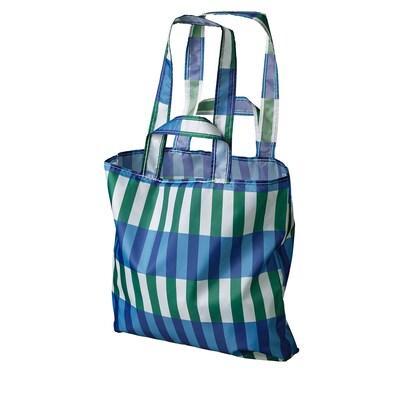 SKYNKE nákupná taška modrá/zelená 45 cm 36 cm