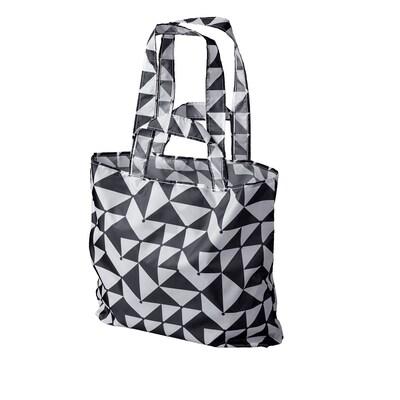 SKYNKE Nákupná taška, čierna/biela