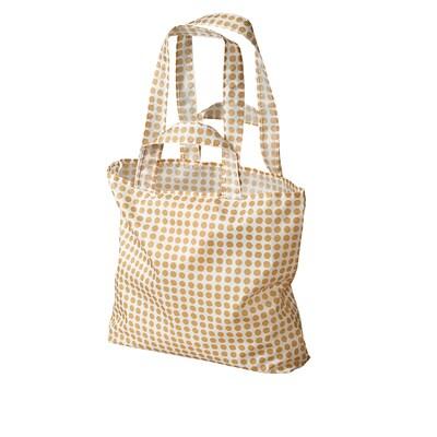SKYNKE Nákupná taška, žltá/biela