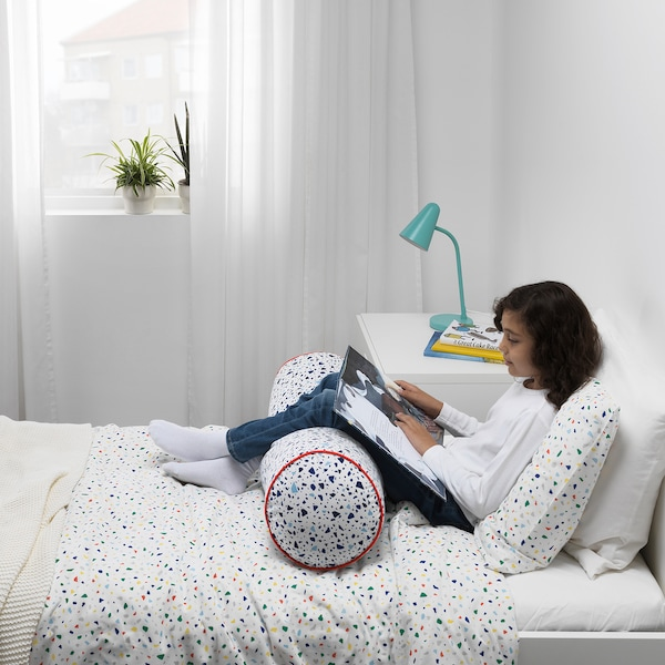SLÄKT Rám postele s roštom, biela, 90x200 cm