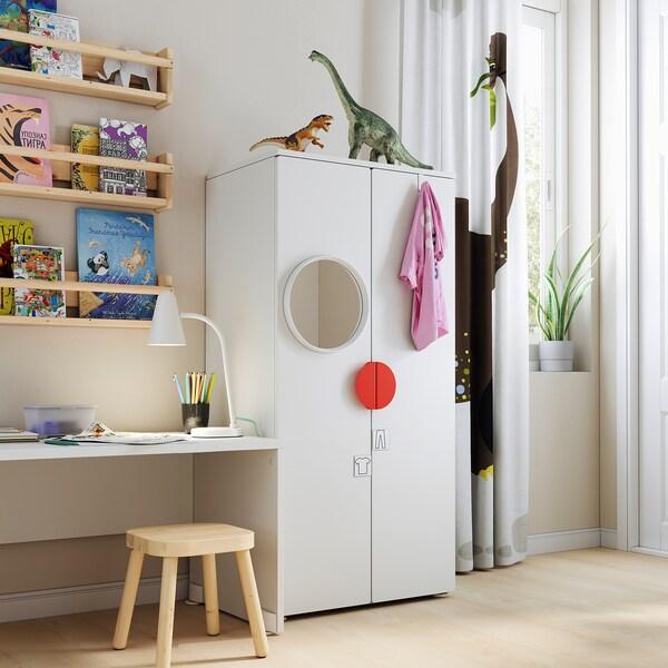 SMÅSTAD / PLATSA Skriňa, biela/biela, 60x40x123 cm