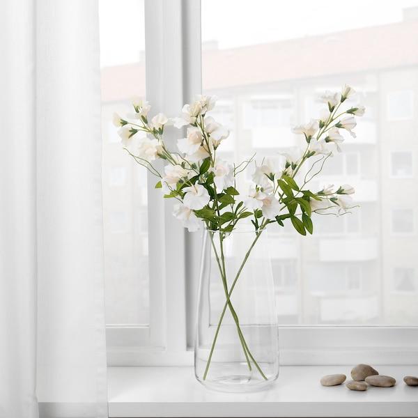 SMYCKA umelá kvetina hrachor/biela 60 cm