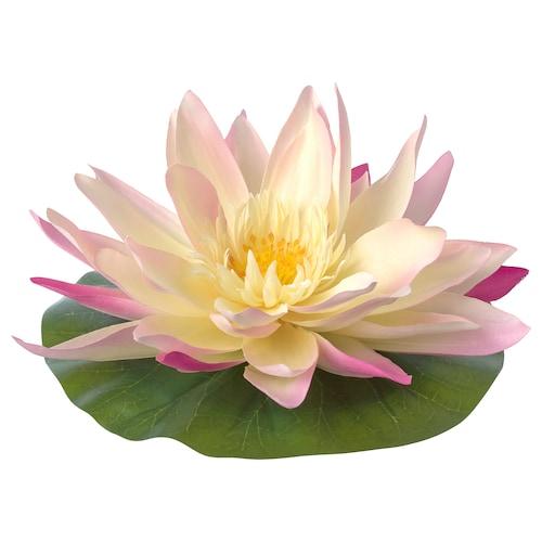 SMYCKA plávajúci umelý kvet na von/dnu Lekno 11 cm 22 cm