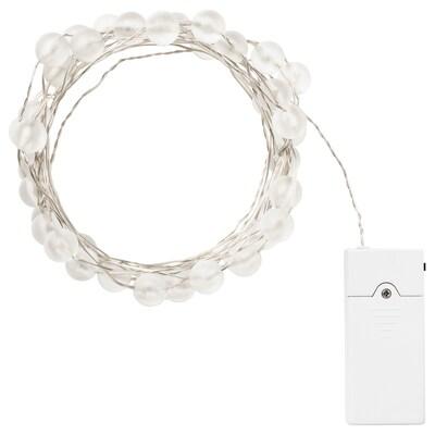 SNÖYRA LED svetelná reťaz so 40 svetlami, vnútorné použitie/na batérie strieborná