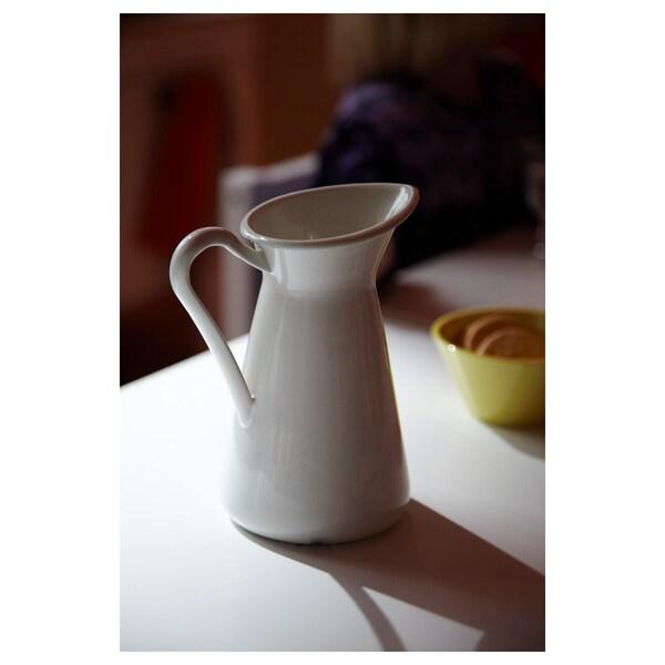 SOCKERÄRT váza biela 16 cm 0.6 l