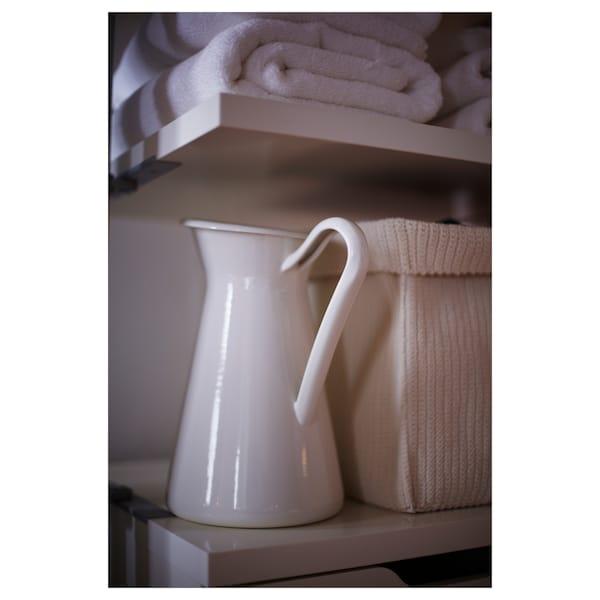 SOCKERÄRT Váza, biela, 16 cm
