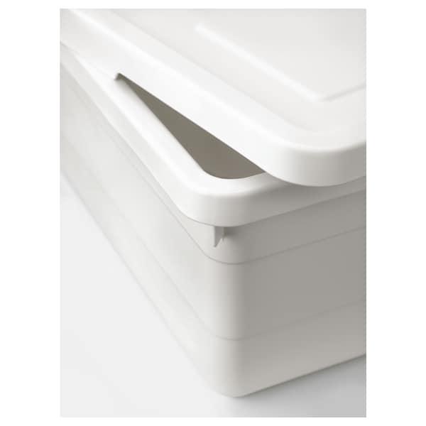 SOCKERBIT Škatuľa s vrchnákom, biela, 38x25x15 cm