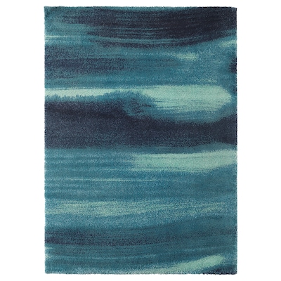 SÖNDERÖD Koberec, vysoký vlas, modrá, 170x240 cm