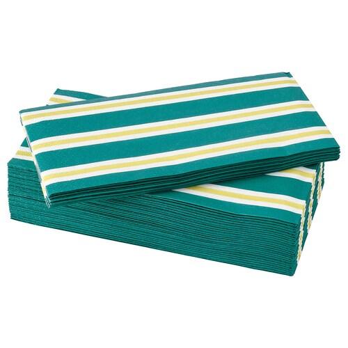 SOMMARLIV papierové obrúsky prúžkovaný/zelená/żltá 38 cm 38 cm 30 ks