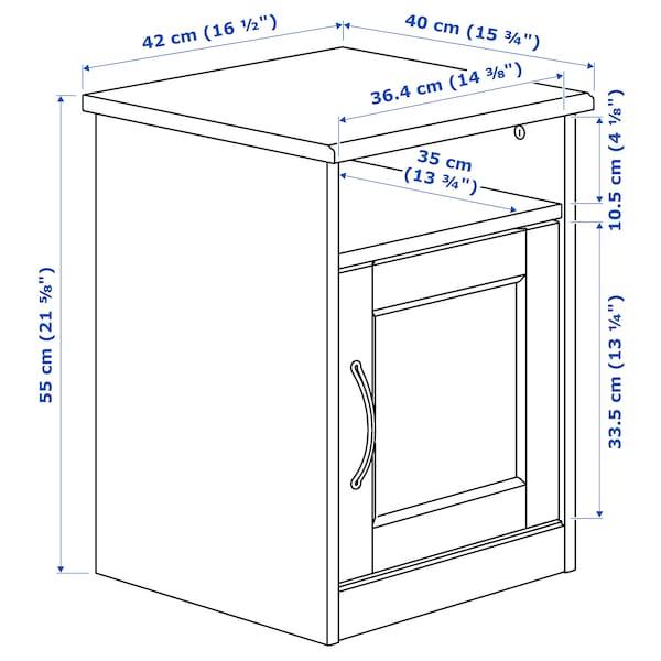 SONGESAND nočný stolík biela 42 cm 40 cm 55 cm 11 cm