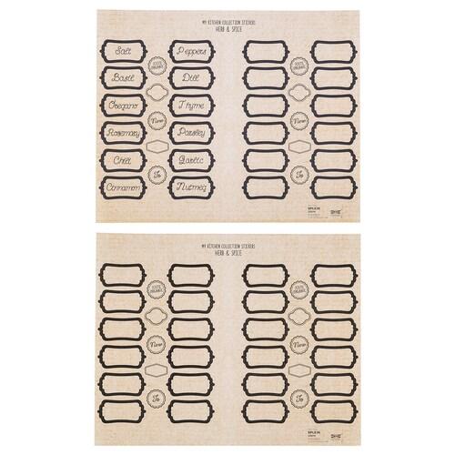 IKEA SPLEJK Samolepiace etikety, sada 2 kusov