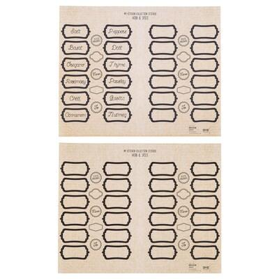 SPLEJK Samolepiace etikety, sada 2 kusov hnedá/čierna