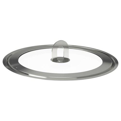STABIL pokrievka nehrdzavejúca oceľ/číre sklo 28 cm