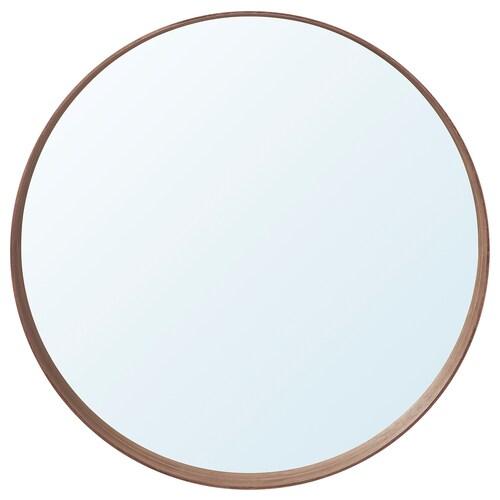 STOCKHOLM zrkadlo orechová dyha 10 cm 80 cm