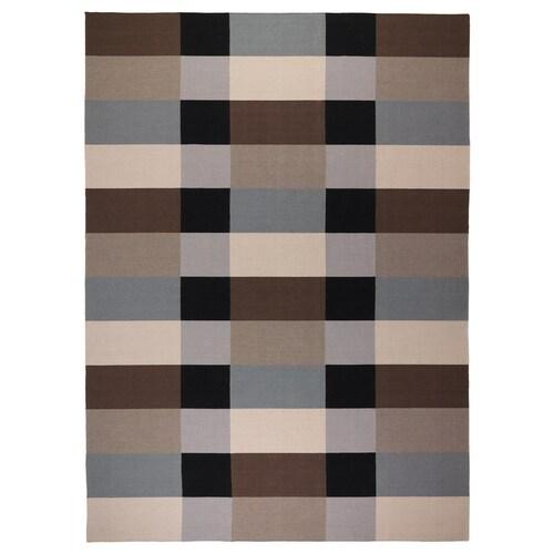 STOCKHOLM koberec, hladko tkaný vyrobené ručne/kockované hnedá 350 cm 250 cm 6 mm 8.75 m² 1985 g/m²