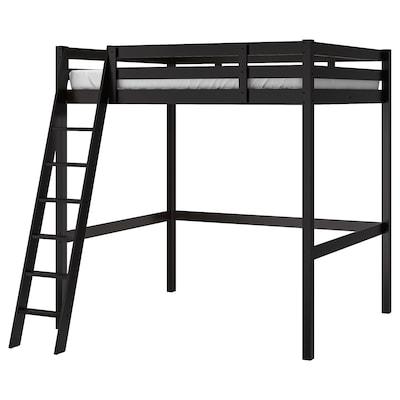 STORÅ Rám vys.postele, čierna, 140x200 cm