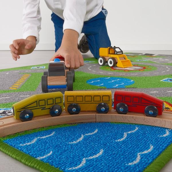 STORABO koberec zelená 133 cm 75 cm 0.99 m²