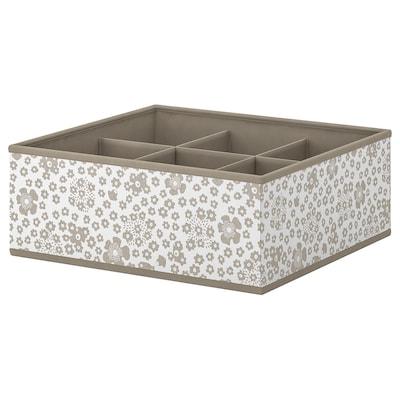 STORSTABBE škatuľa s priehradkami béžová 37 cm 40 cm 15 cm