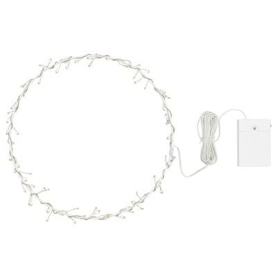 STRÅLA Závesná LED lampa, na batérie/tvar kruhu, 27 cm