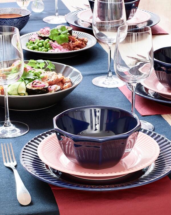 STRIMMIG Dezertný tanier, kamenina ružová, 21 cm