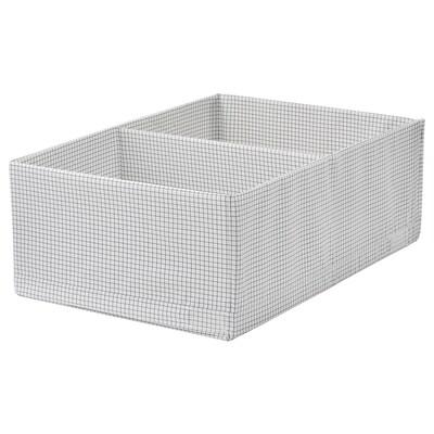 STUK škatuľa/priehradky biela/sivá 34 cm 51 cm 18 cm
