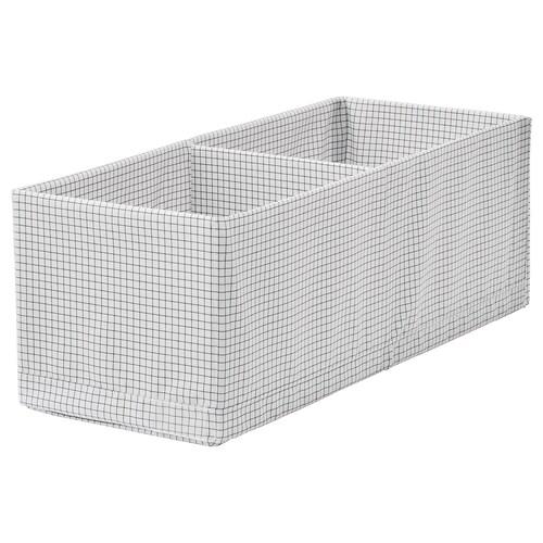 STUK škatuľa/priehradky biela/sivá 20 cm 51 cm 18 cm