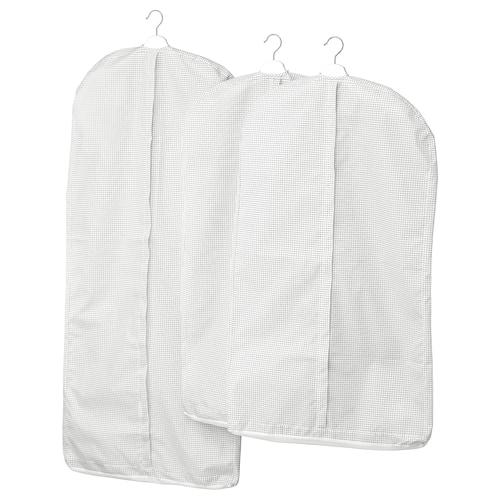 STUK obal na šaty, 3 ks biela/sivá