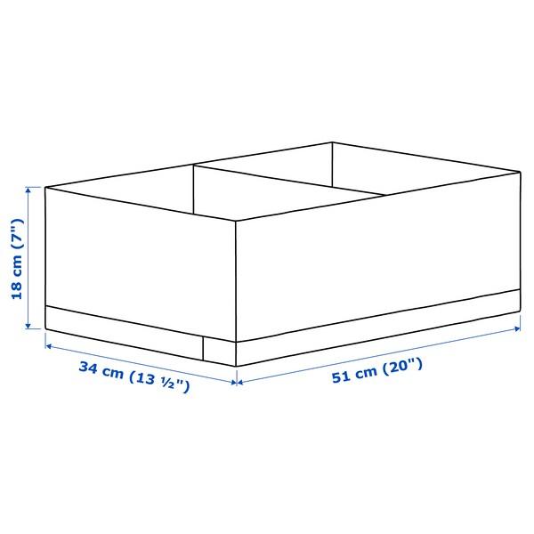 STUK Škatuľa s priehradkami, biela, 34x51x18 cm