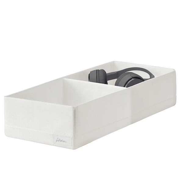 STUK Škatuľa s priehradkami, biela, 20x51x10 cm