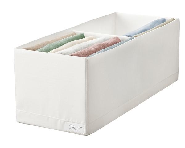 STUK Škatuľa s priehradkami, biela, 20x51x18 cm