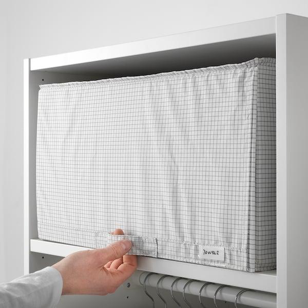 STUK Úložný diel, biela/sivá, 34x51x28 cm