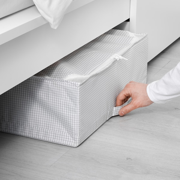 STUK Úložný diel, biela/sivá, 55x51x18 cm