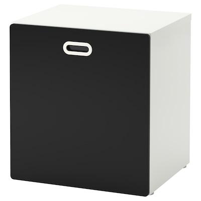 STUVA / FRITIDS Úložný priestor na hračky na kol, biela/tabuľový povrch, 60x50x64 cm
