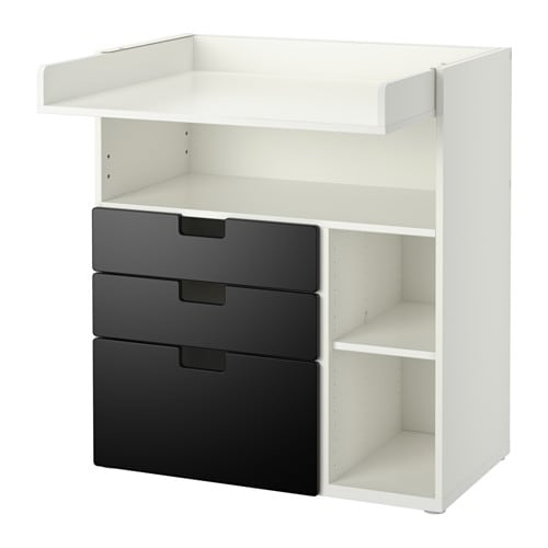 stuva preba ovac pult 3 z suvky biela ierna ikea. Black Bedroom Furniture Sets. Home Design Ideas