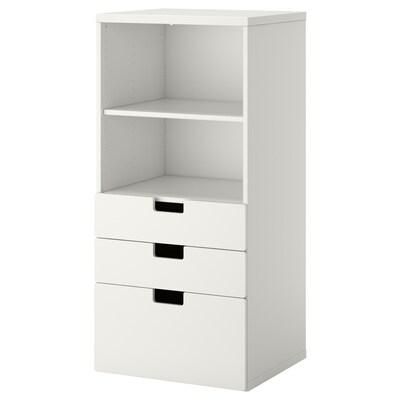 STUVA / STUVA MÅLAD knižnica zásuvky biela/biela 60 cm 50 cm 128 cm