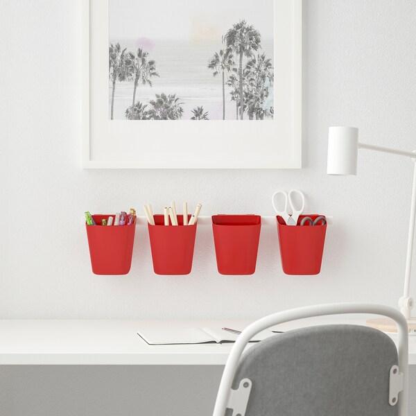 SUNNERSTA Nádoba, červená, 12x11 cm