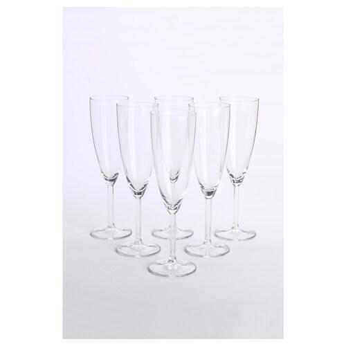 SVALKA pohár na šampanské číre sklo 22 cm 21 cl 6 ks
