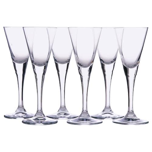 SVALKA pohár číre sklo 14 cm 4 cl 6 ks