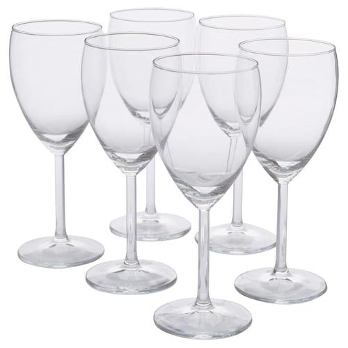 SVALKA pohár na biele víno číre sklo 18 cm 25 cl 6 ks