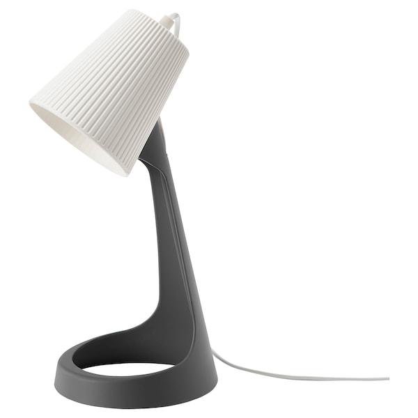 SVALLET Pracovná lampa, tmavosivá/biela